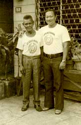 "Balintakaw arnis founder, Venancio ""Anciong"" Bacon, with Master Johnny Chiuten"