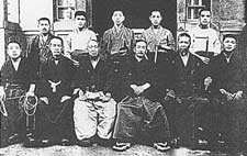 Prof. Kano other jujitsu masters in 1921.