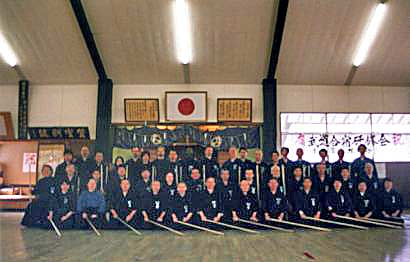 The February 2008 jodo gasshuku participants. Photo courtesy of T. Kaminoda.