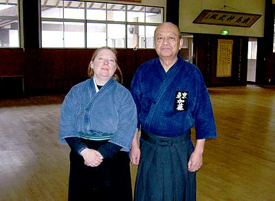 The author with Kato Sensei. Photo by Peter Boylan